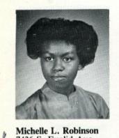 Michelle Robinson, Princeton Freshman Herald 1985